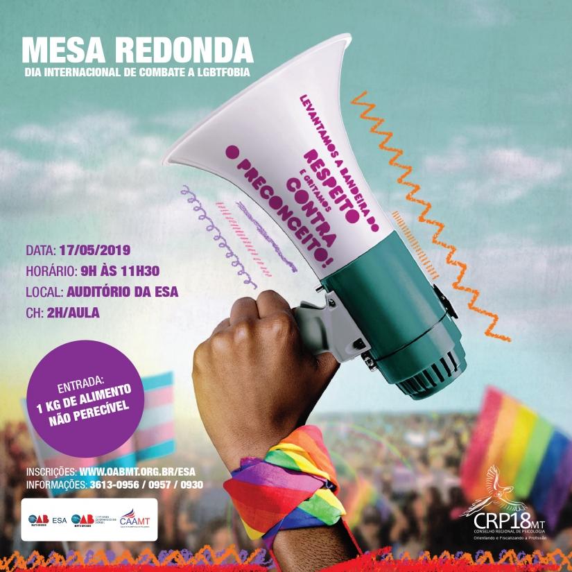 Mesa Redonda debate pautas de combate à LGBTfobia