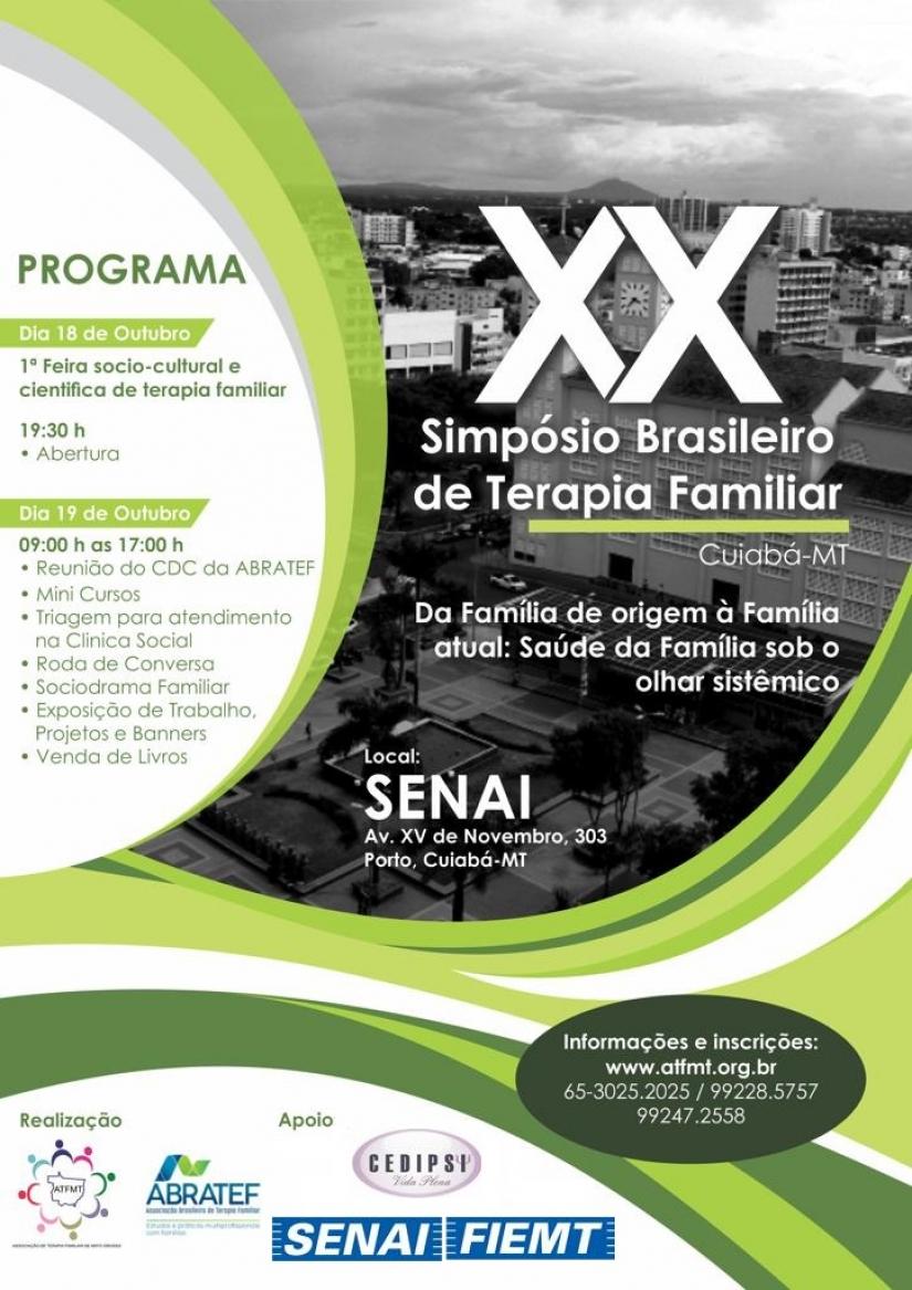 Eventos nacionais sobre Terapia Familiar acontecem na próxima semana
