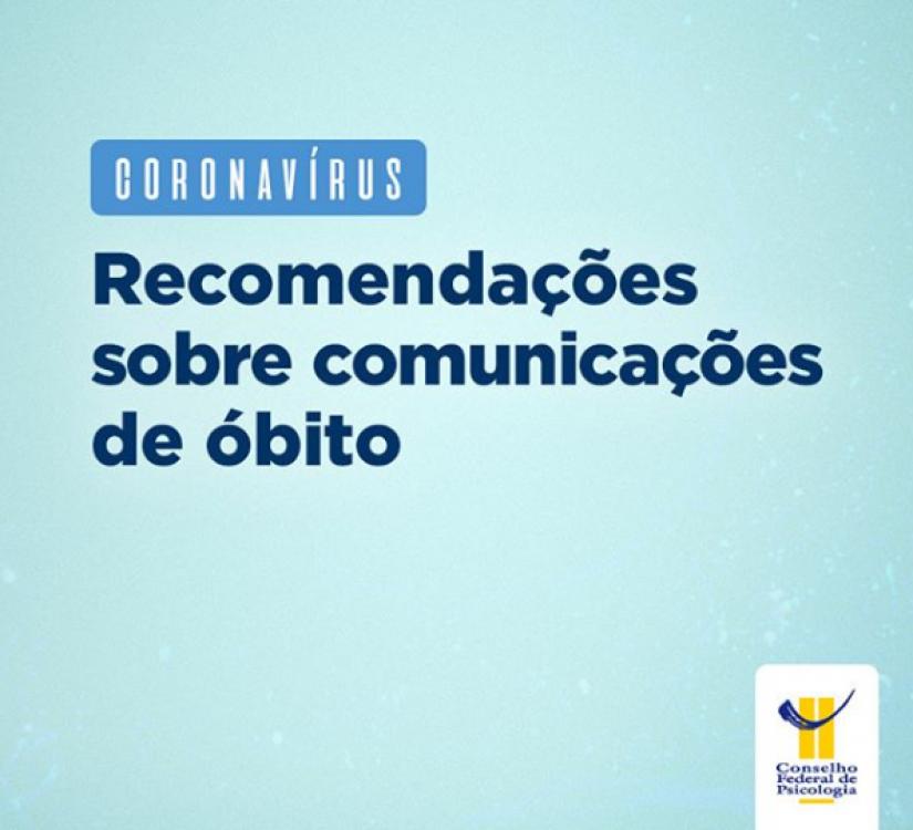 CFP orienta profissionais quanto à comunicação de óbitos por coronavírus