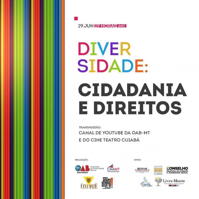 "Presidente do CRPMT participa do Webinar ""Diversidade: cidadania e direitos"""