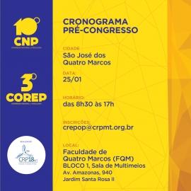 Pré-congresso de Psicologia ocorre dia 25 em São José dos Quatro Marcos