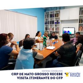 CRP de Mato Grosso recebe visita do CFP