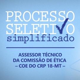 Processo Seletivo para cargo de Assessor Técnico