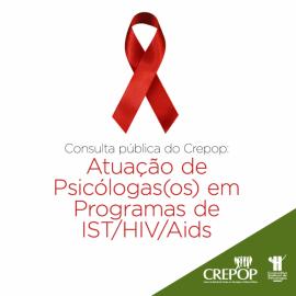Consulta pública do Crepop: Atuação de Psicólogas(os) em Programas de IST/HIV/Aids