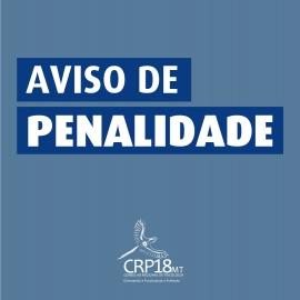 AVISO DE PENALIDADE
