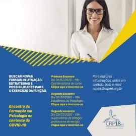 Coronavírus: CRP18-MT promove discussão sobre Portaria do MEC que autoriza aulas digitais até o final do ano