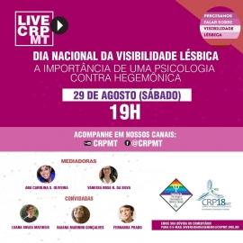 Visibilidade Lésbica é tema de live do CRP18-MT neste sábado (29)