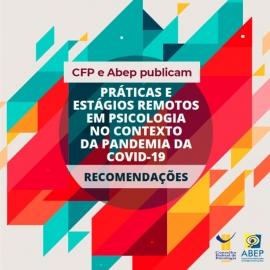 Guia sobre práticas de estágios remotos na pandemia é lançado pelo CFP