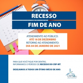 RECESSO DE FIM DE ANO