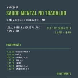 Workshop Saúde Mental no Trabalho