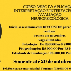 WISC-IV: APLICAÇÃO, INTERPRETAÇÃO E INTERFACES COM A AVALIAÇÃO NEUROPSICOLÓGICA
