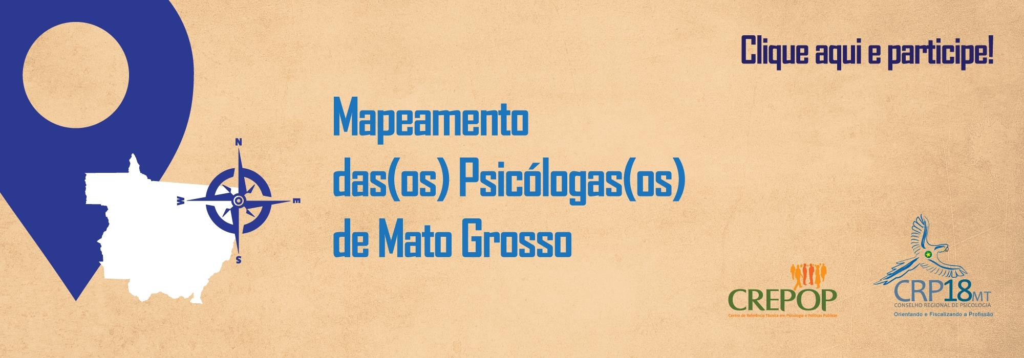Mapeamento das(os) Psicólogas(os) de Mato Grosso